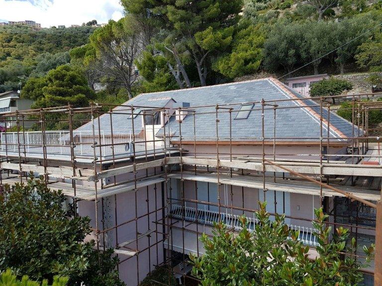 ristrutturazione facciata esterna Nicolosi Rapallo