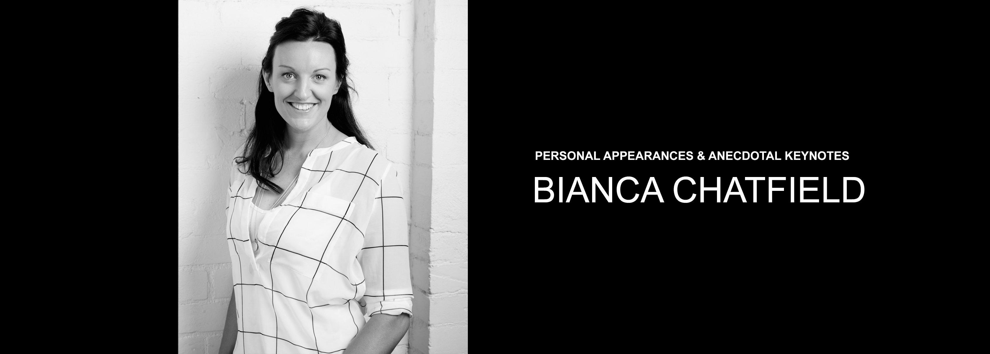 Bianca Chatfield - Elite Athlete, Sport Broadcaster - Bravo Talent Management