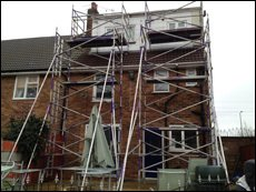 scaffolding at work