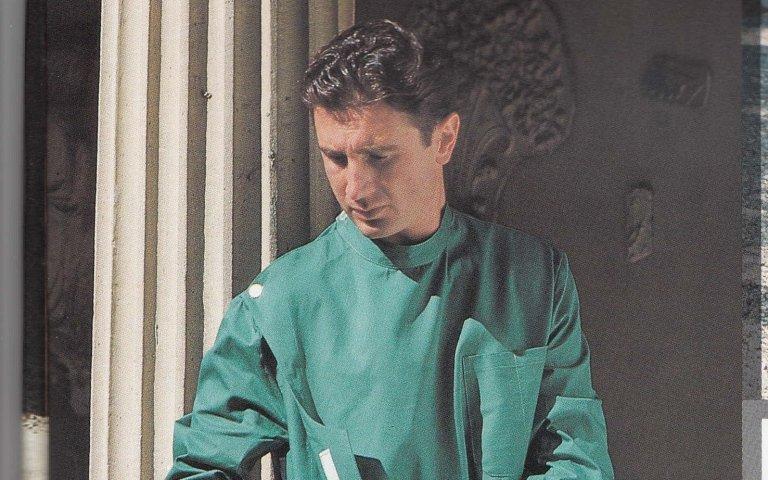 camici sanitari verde