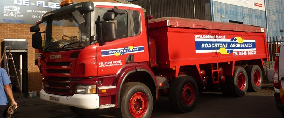 Red colour truck