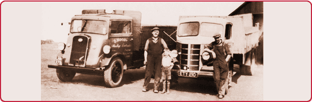 Alan Moody (current MD) with his father David Moody & one of their first drivers