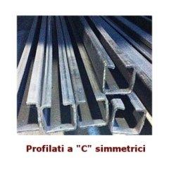 Profilati a C simmetrici