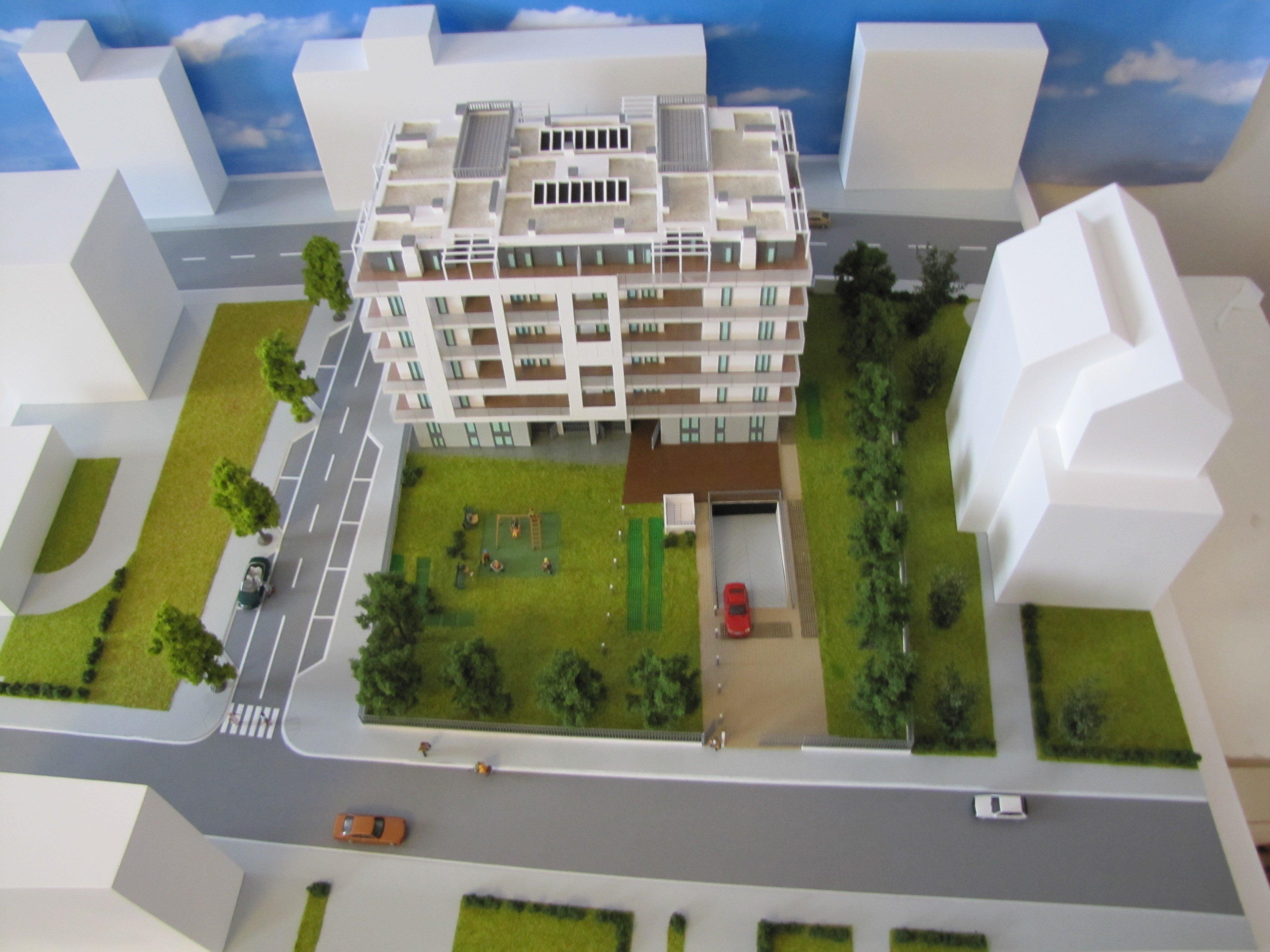 plastico condominio con parco dall'alto