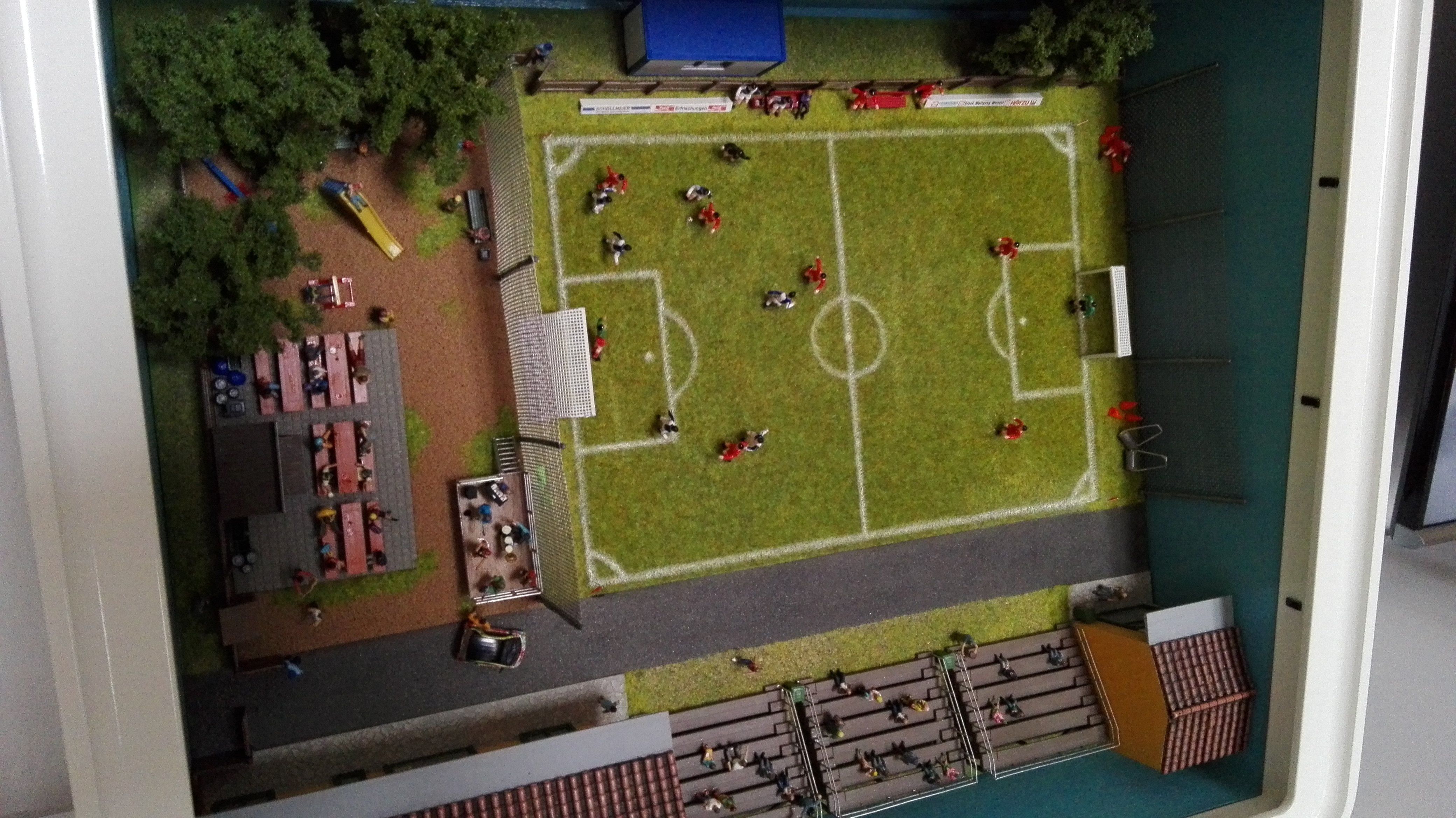 Diorama campo da calcio