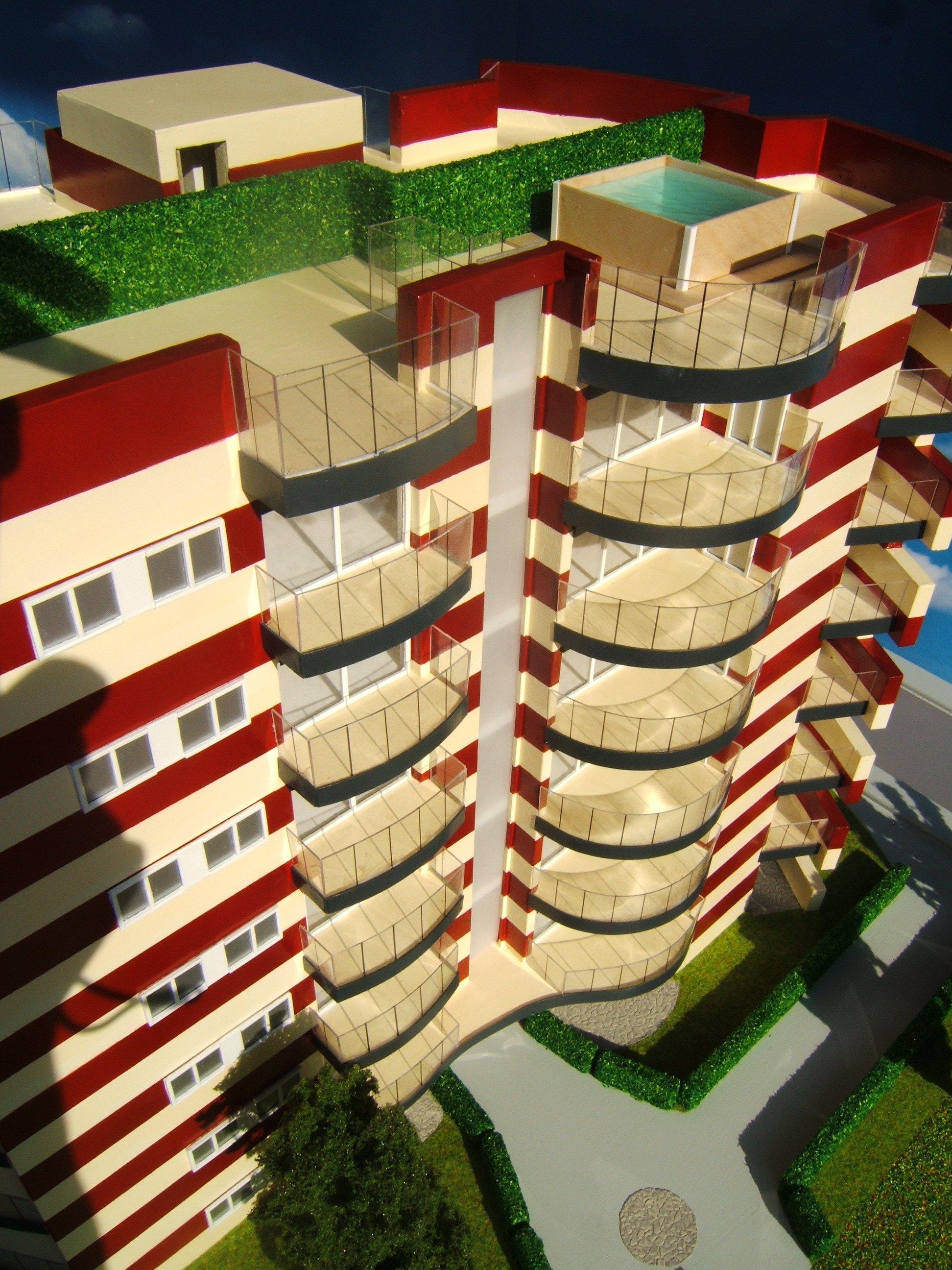 plastico condominio visuale dei balconi