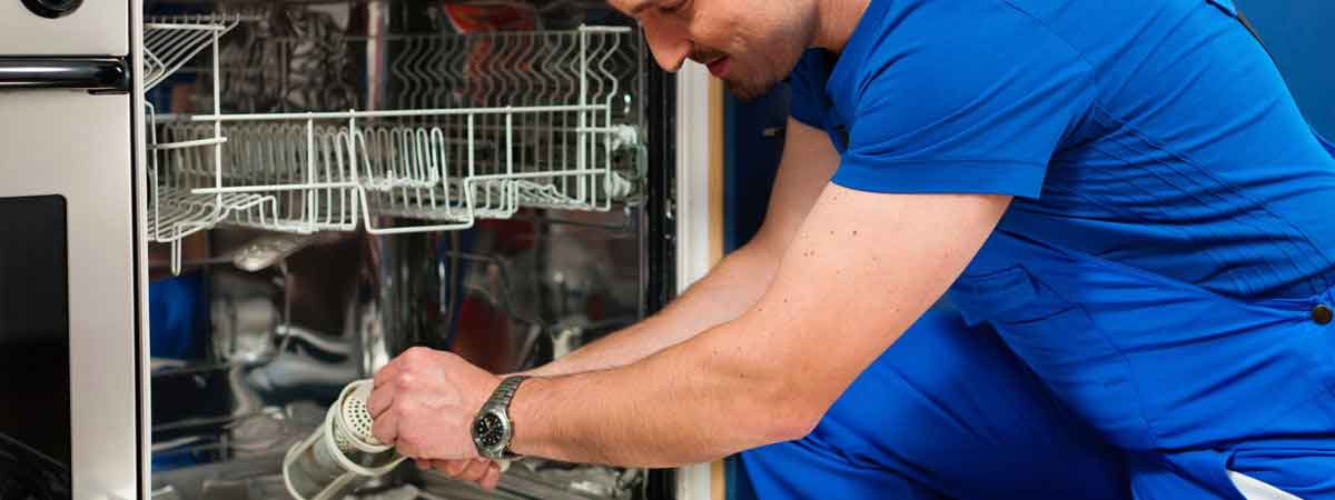 One of our experts doing dishwasher repairs in Geelong