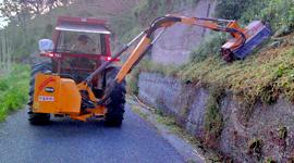 braccio meccanico per pulizia strade