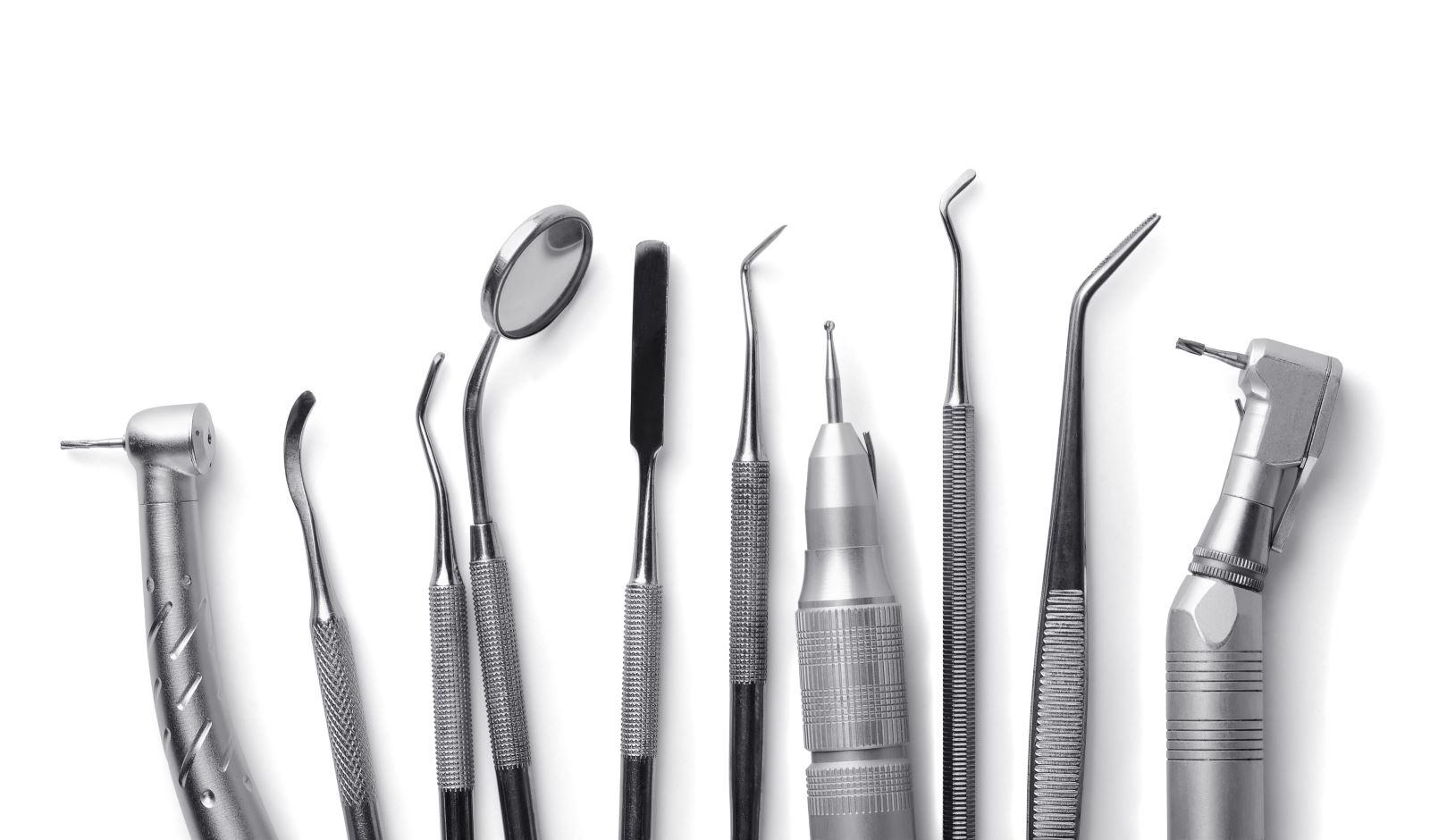 specchietti,rampini,turbine e altri accessori dentistici