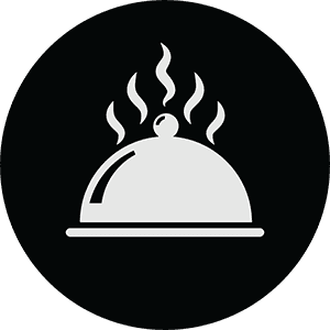 icona di un piatto fumante