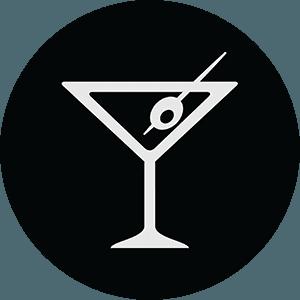 icona di un bicchiere con drink