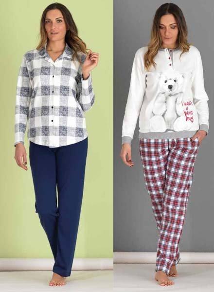 modelle indossano pigiami colorati