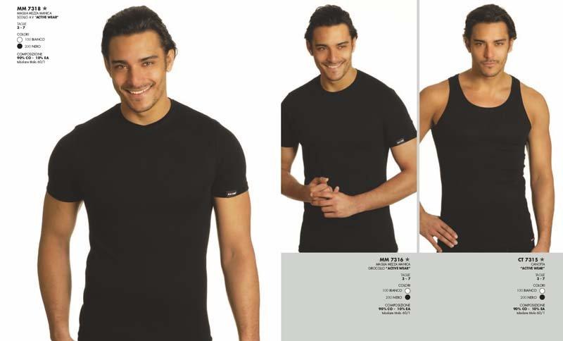 banner pubblicitario maglietta intima da uomo