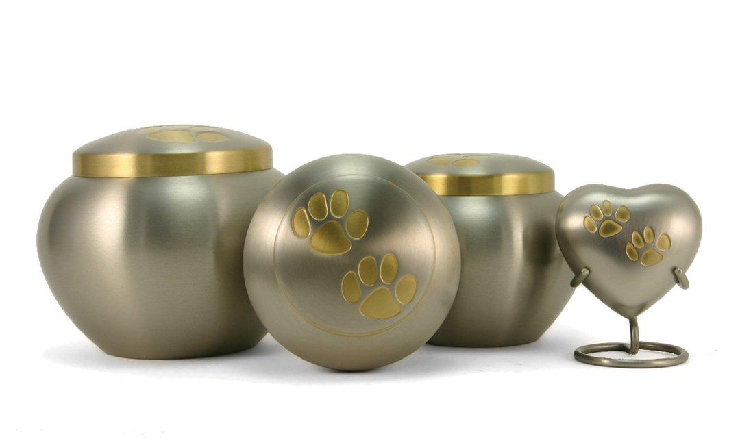 Odyssey Pewter/Bronze Paw Print Urns