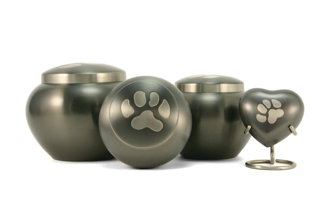 Odyssey Slate/Pewter Paw Print Urns, Odyssey Paw Print Urn, Pet Urns