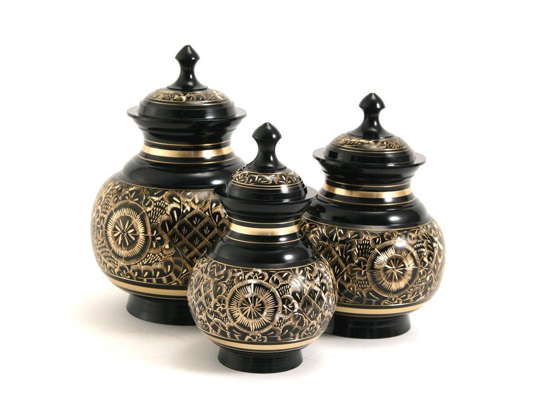 Black Engraved Urn