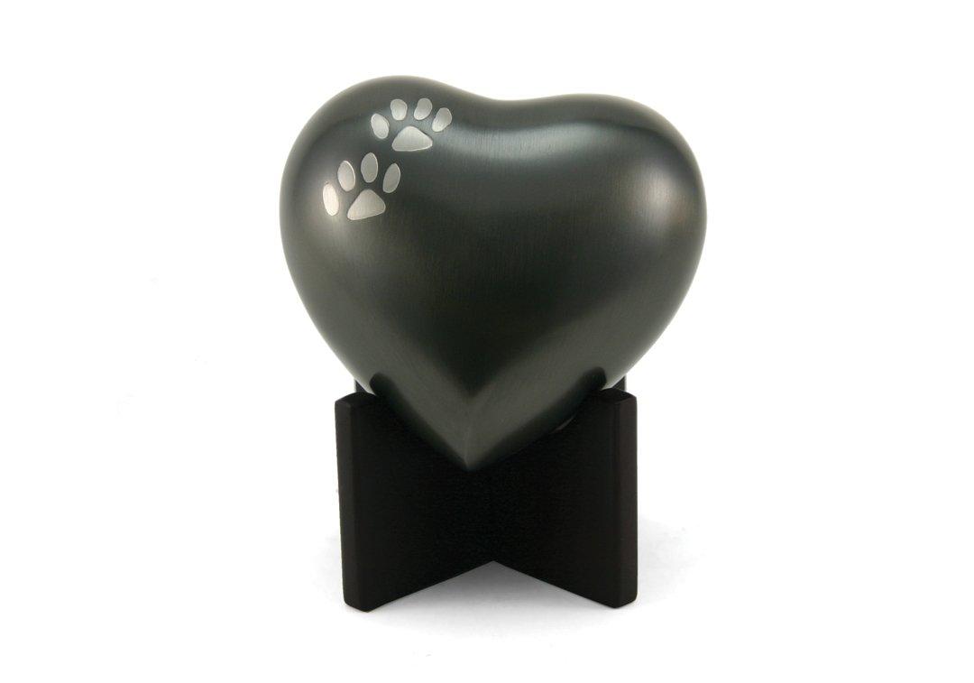 Arielle Heart Slate Paw Urn