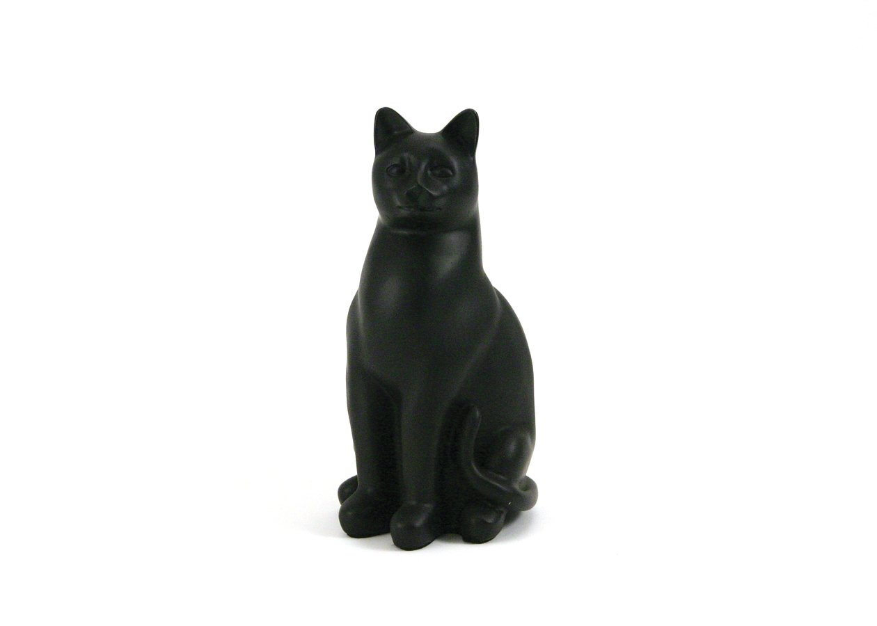 Elite Cat Black Urn