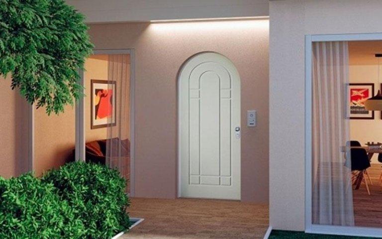 porta blindata arcata