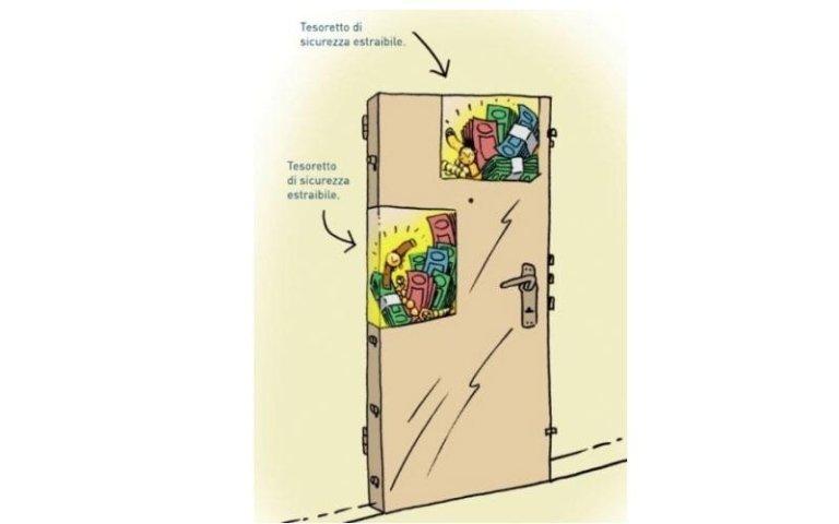 porta blindata con cassaforte