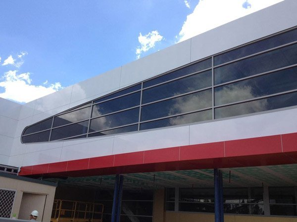 panther glass pty ltd white building