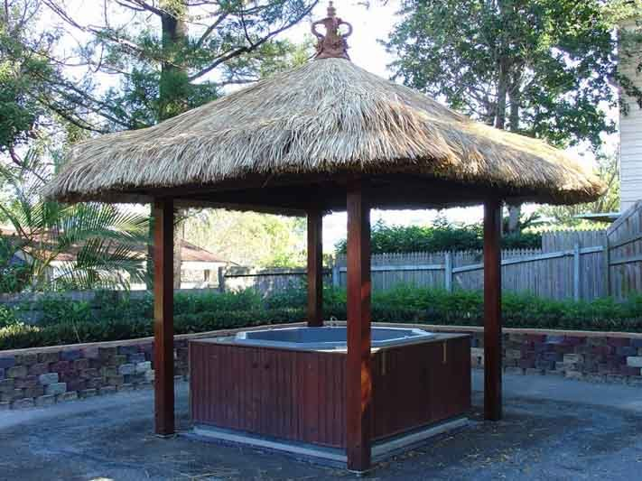 View of the thatched roof