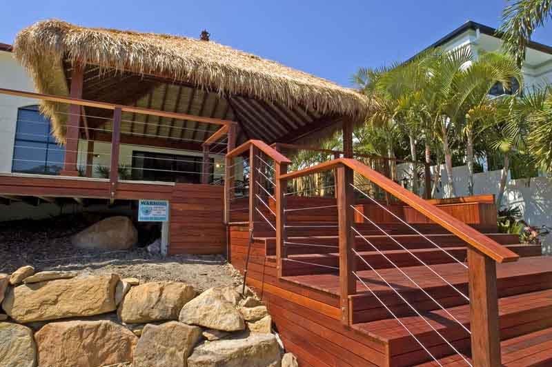 Wooden deck work