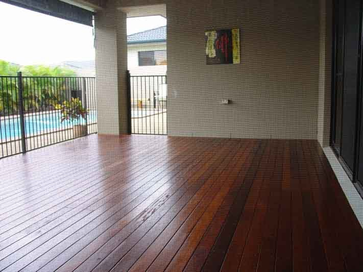 Wooden deck work