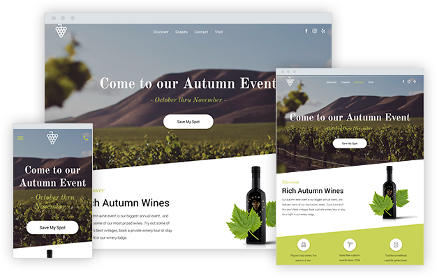 Winery Landing Page