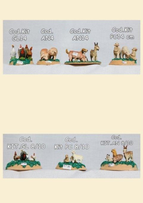 Animali da cortine dipinti a mano varie misure