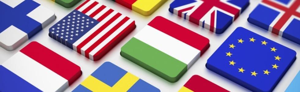 Bandiere in i tasti della tastiera