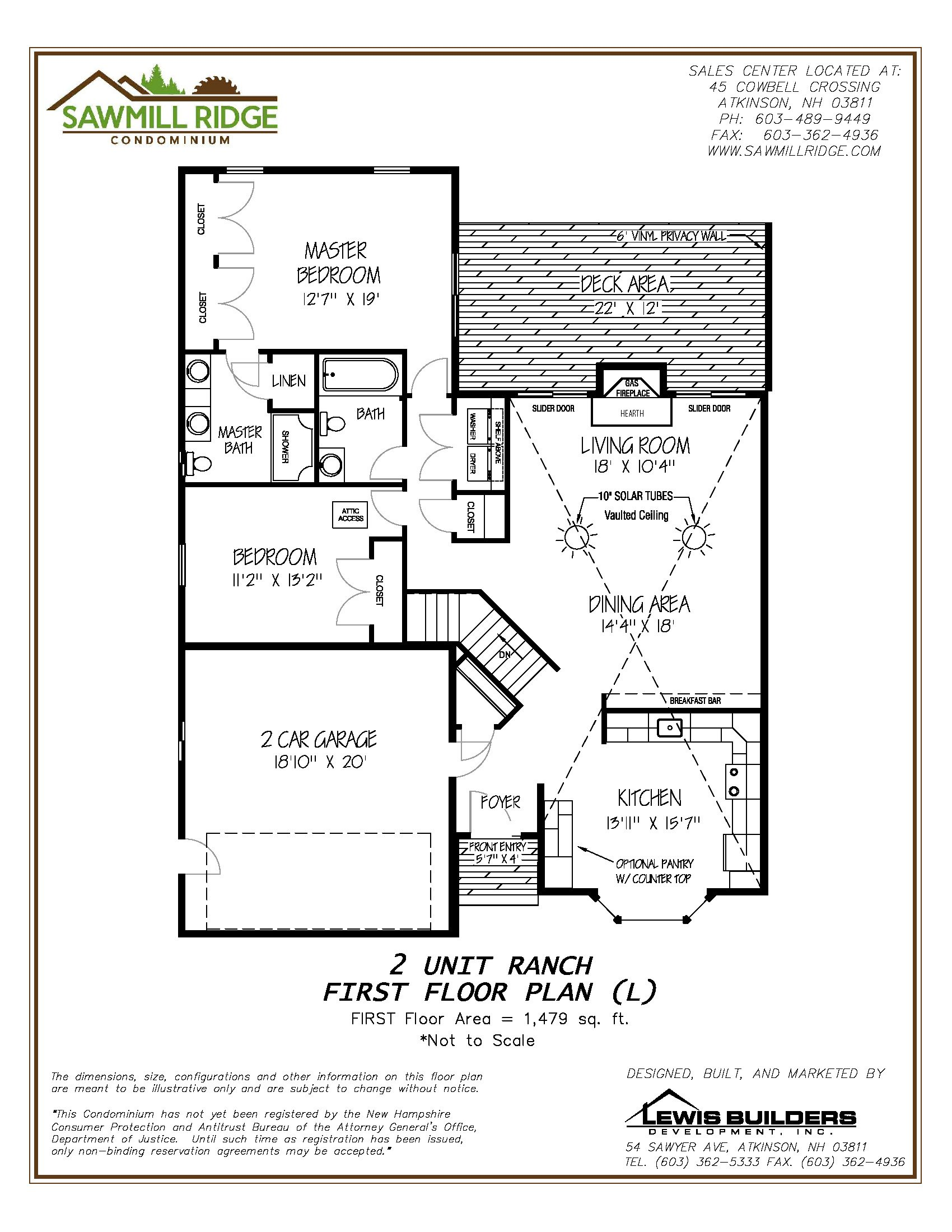 New Condo Floor Plans at Sawmill Ridge in Atkinson NH