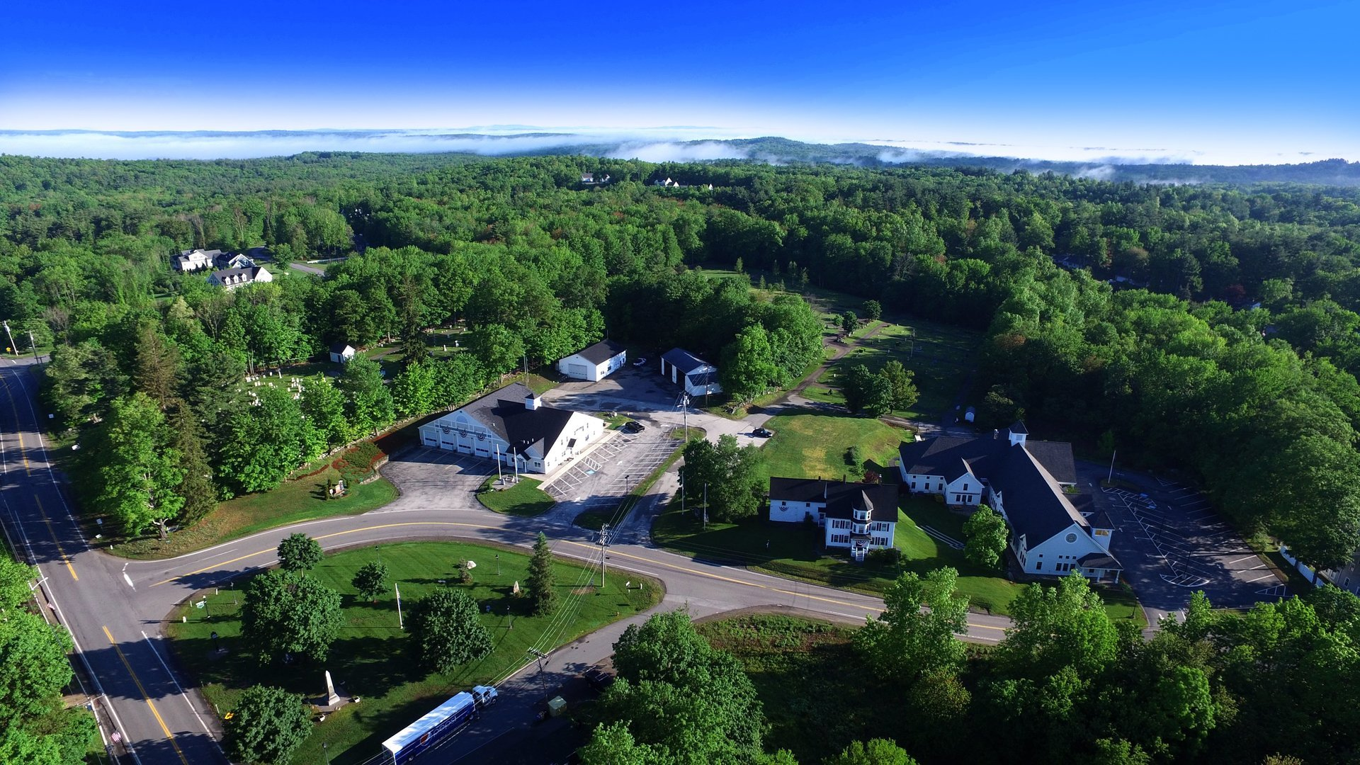 Aerial Image of Atkinson NH Dow Commons