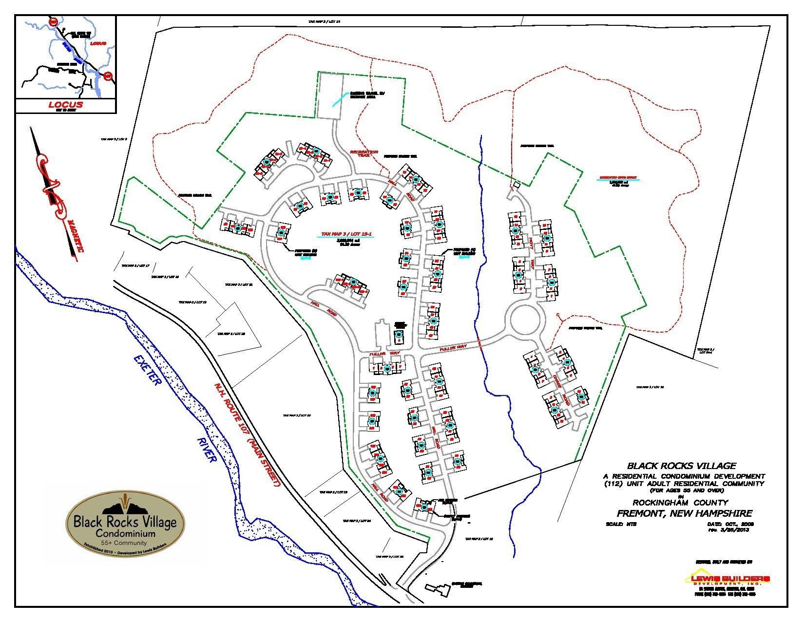 New Homes Site Plan for Black Rocks Village in Fremont NH