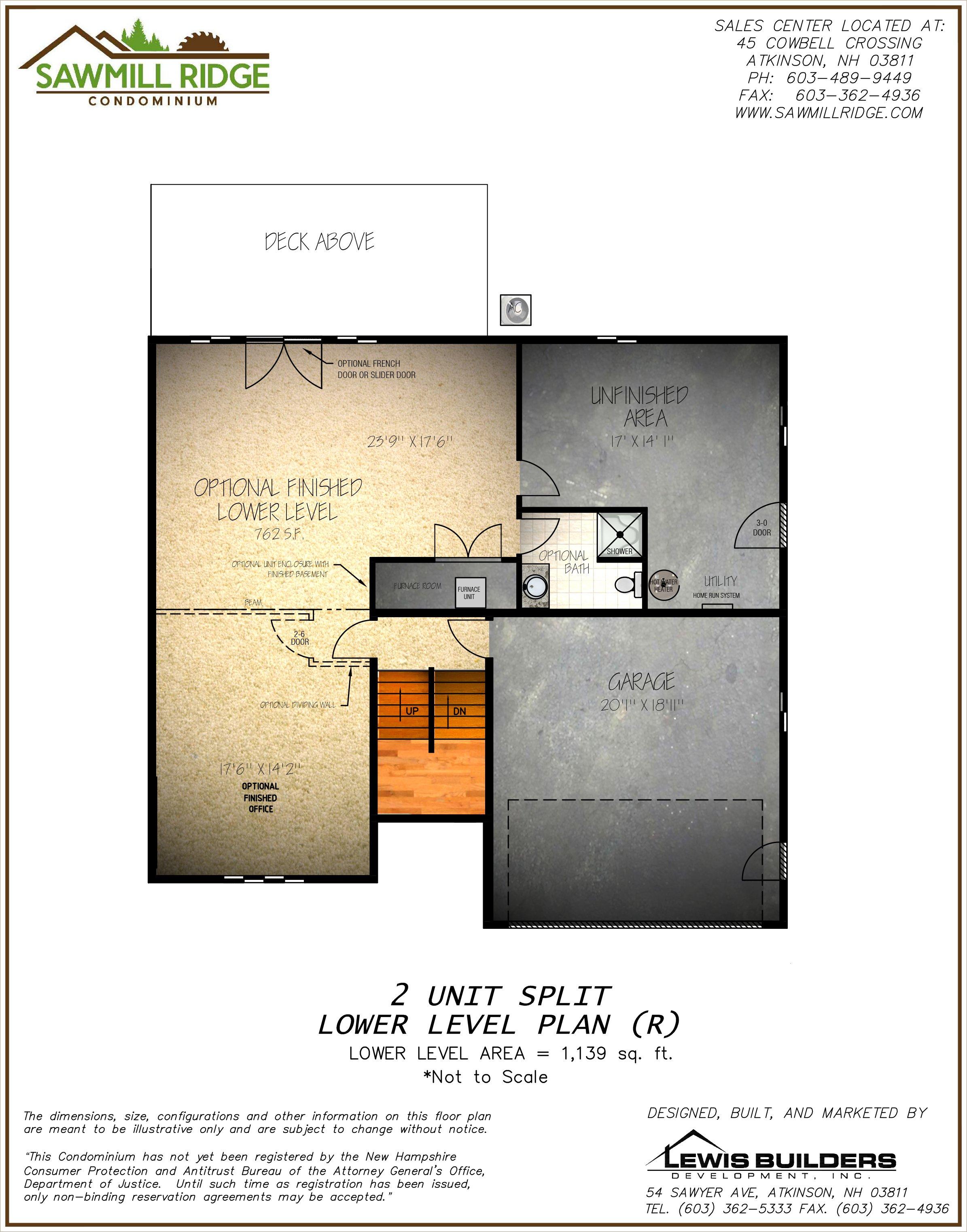 New Homes Floor Plan at Sawmill Ridge in Atkinson NH Builder Lewis