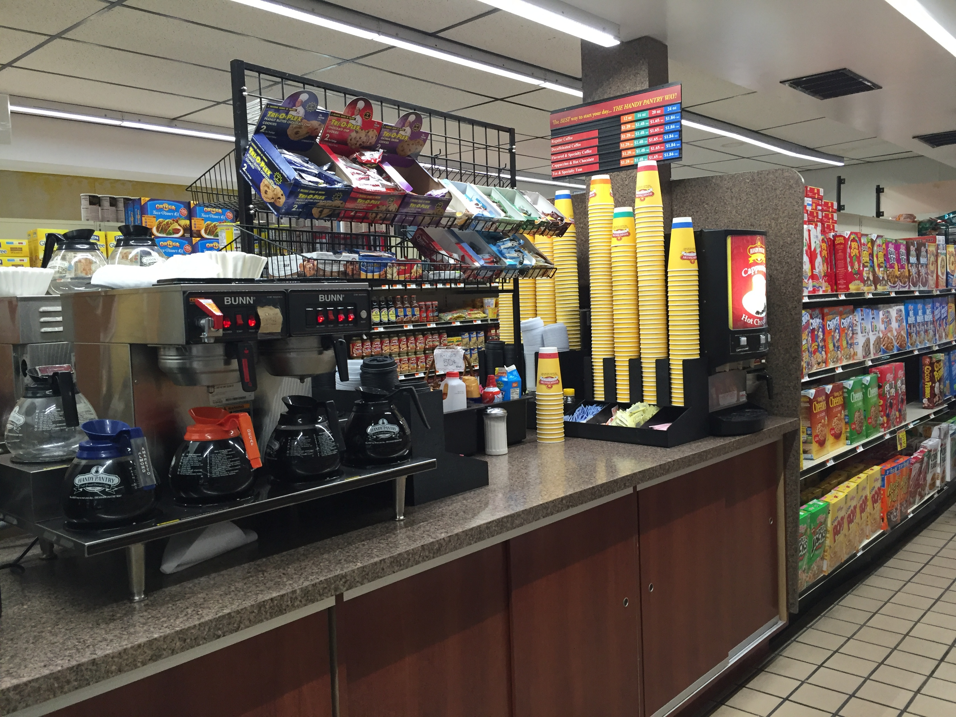 Handy pantry friendly food stores for Hot food bar 3 divisions