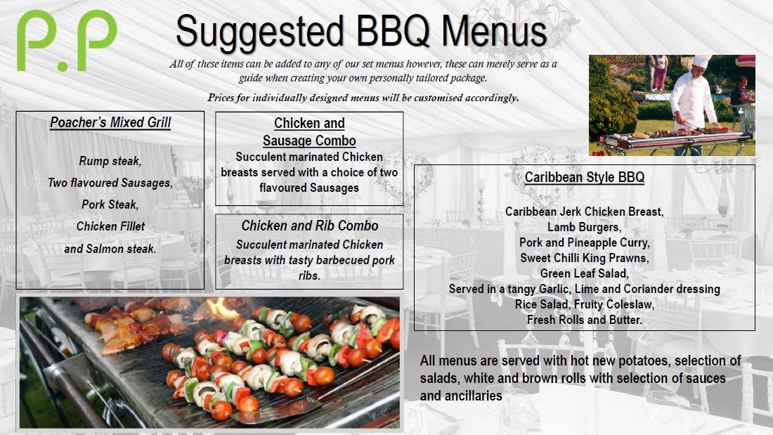 Suggested BBQ menu