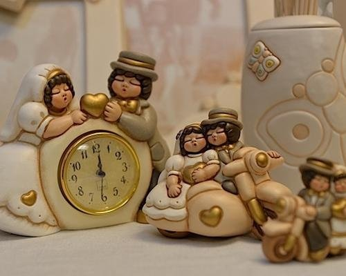 Orologio con sposi