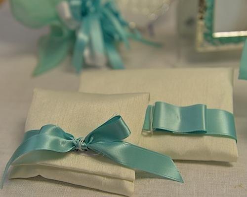 Sacchetti con fiocco color Tiffany