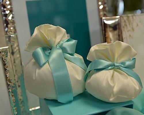 Bomboniere con fiocco color Tiffany
