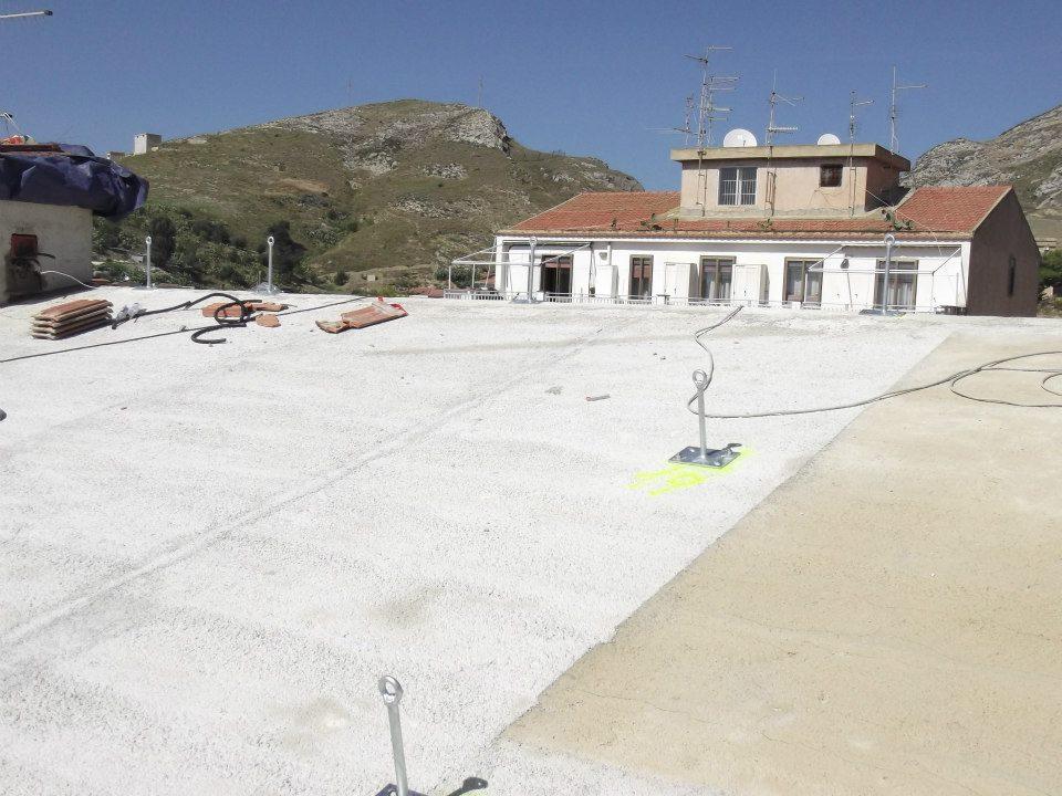 linea vita sul tetto