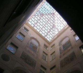 copertura in vetro palazzo lauro cavedio