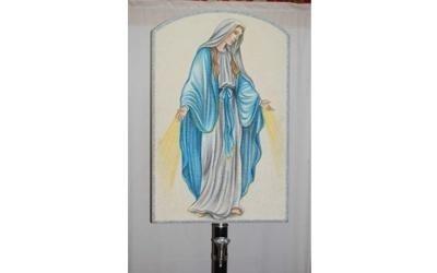 addobbo funebre Maria Vergine