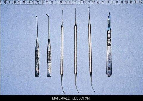 materiale per flebectomi