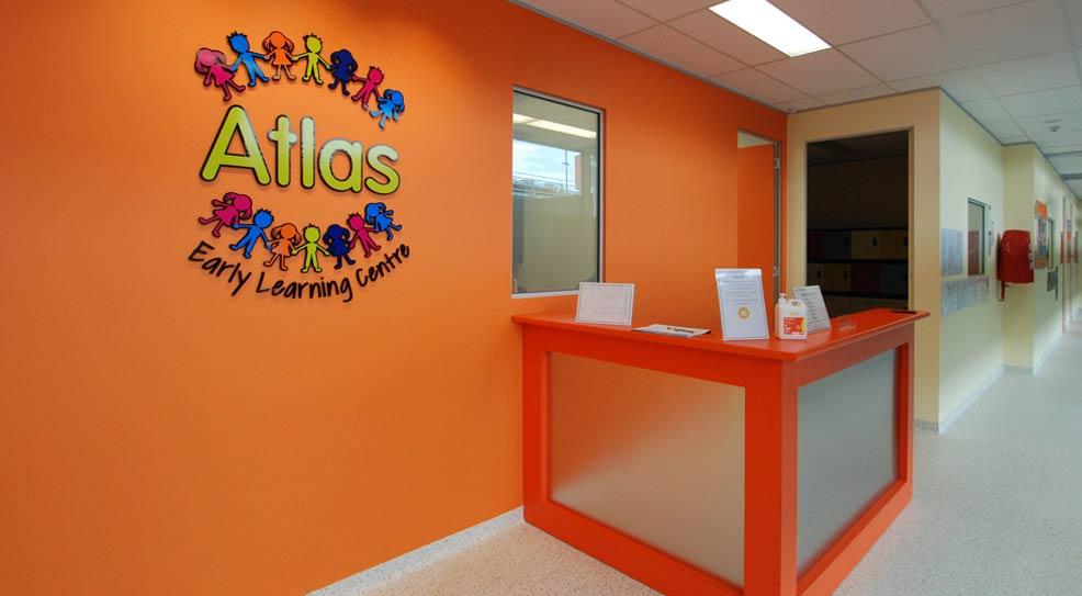 atlas childcare front desk