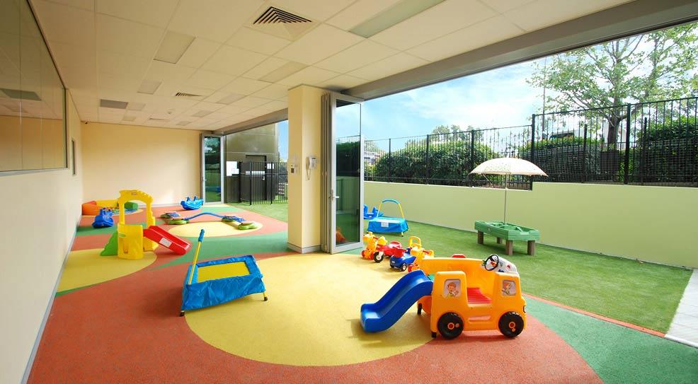 indoor turned outdoor playroom
