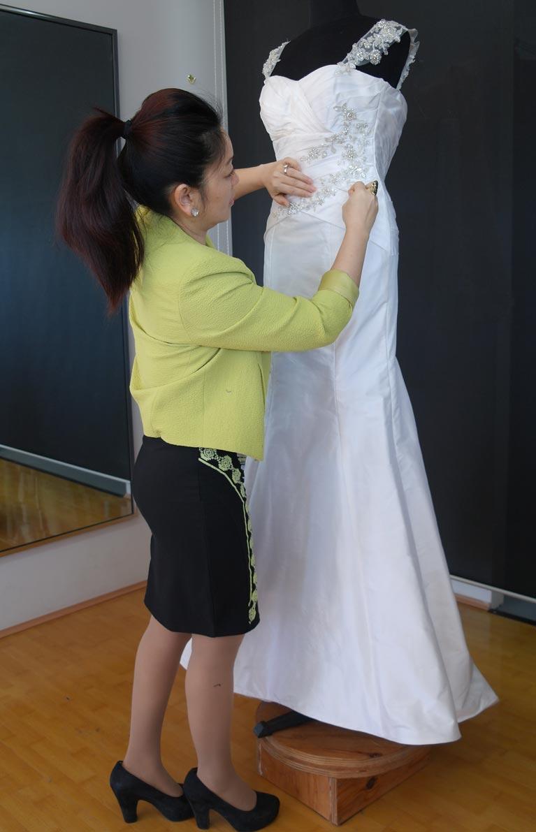 Dressmaker and wedding dress