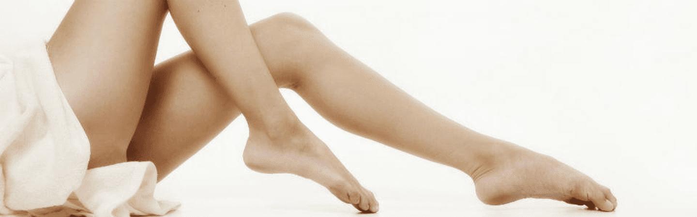 ceretta gamba della donna al salone