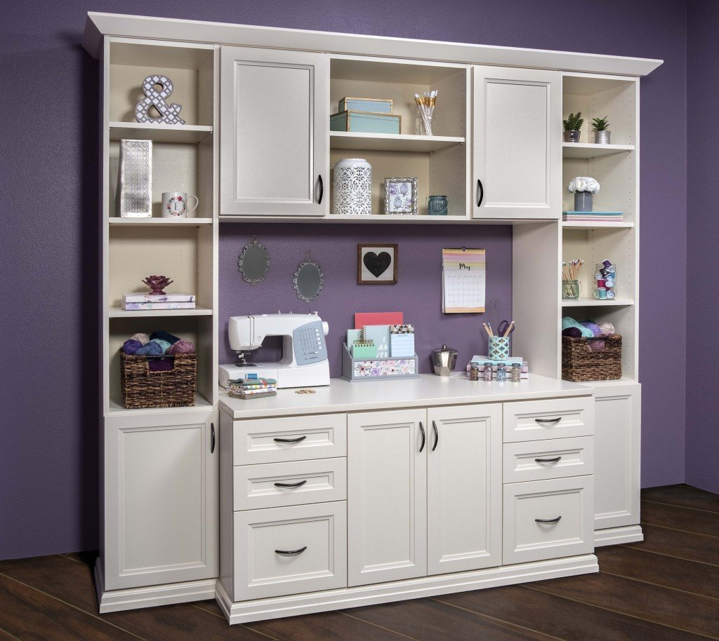 Custom Home Office Crafts Cabinets