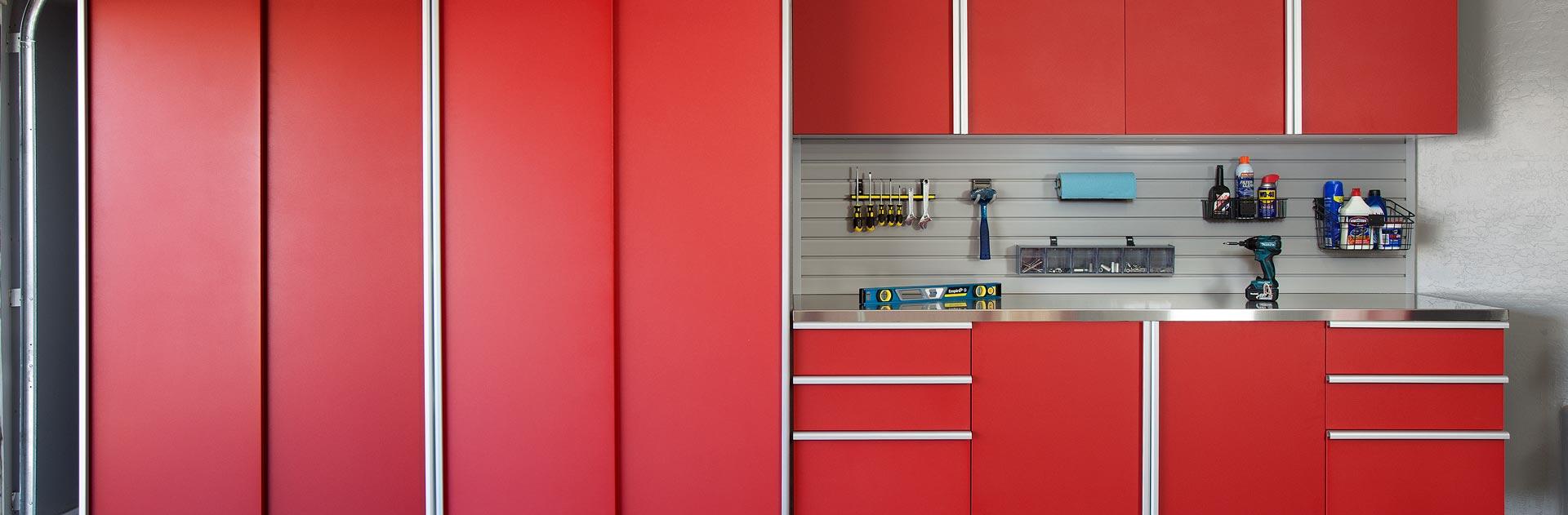 Custom Garage Cabinets and Workbench